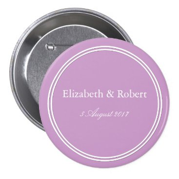 Halloween Themed Chalky Pastel Violet Wedding Decoration Set Pinback Button