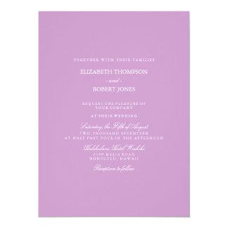 Chalky Pastel Violet Wedding Invitation Set
