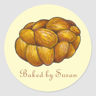 Challah Bread Loaf Baked Personalized Sticker