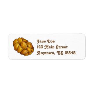 Challah Bread Loaf Return Address Labels