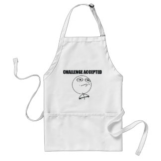 Challenge Accepted Adult Apron