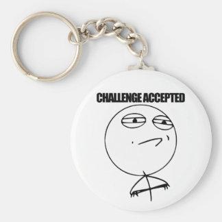 Challenge Accepted Basic Round Button Keychain