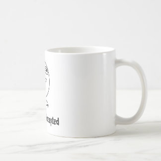 Challenge Accepted Black & White Text Mugs