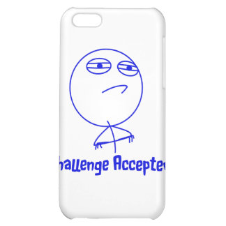 Challenge Accepted Blue & White Text Cover For iPhone 5C