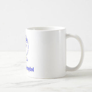 Challenge Accepted Blue & White Text Mug