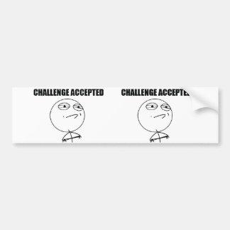 Challenge Accepted Bumper Sticker