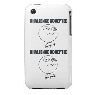 Challenge Accepted Case-Mate iPhone 3 Case