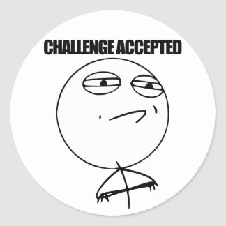 Challenge Accepted Classic Round Sticker