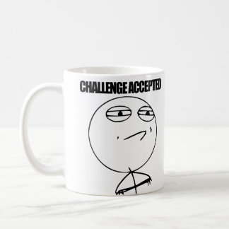 Challenge Accepted Classic White Coffee Mug