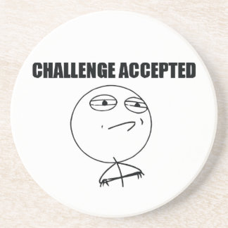 Challenge Accepted Coasters