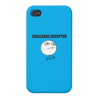 Challenge Accepted Cover For iPhone 4