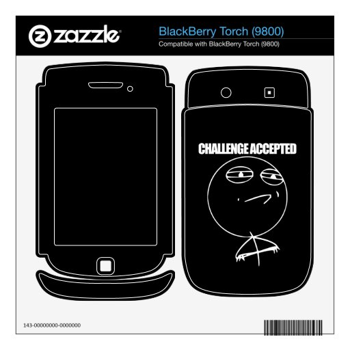 Challenge Accepted Decal For BlackBerry