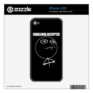 Challenge Accepted Decal For iPhone 4