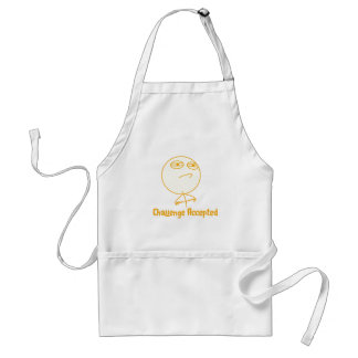 Challenge Accepted (In Orange!) Aprons