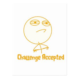 Challenge Accepted (In Orange!) Postcard