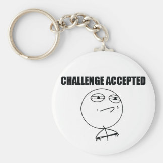 Challenge Accepted Keychain