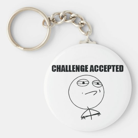 Challenge Accepted Keychain