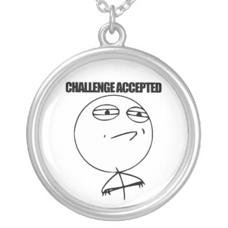 Challenge Accepted Personalized Necklace