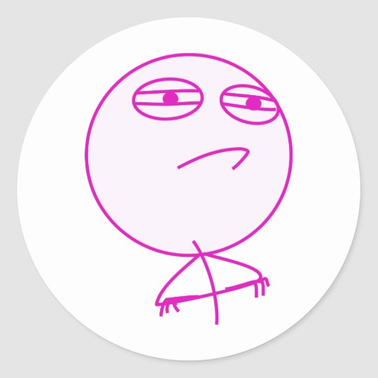 Challenge Accepted Pink & White Classic Round Sticker