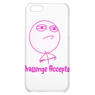 Challenge Accepted Pink & White Text Case For iPhone 5C