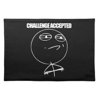 Challenge Accepted Placemat