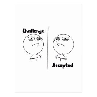 Challenge Accepted! Postcard