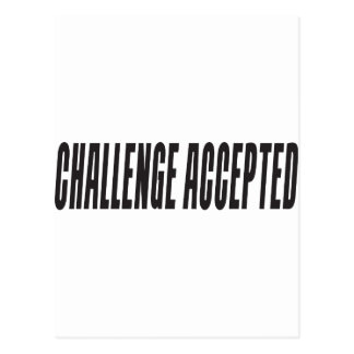 Challenge Accepted Postcard