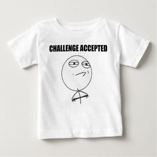 Challenge Accepted Rage Face Comic Meme Baby T-Shirt
