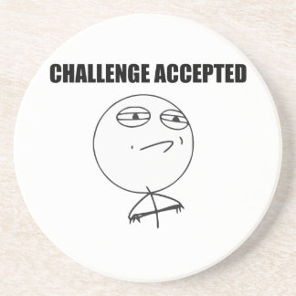 Challenge Accepted Rage Face Comic Meme Coaster