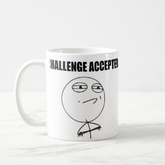 Challenge Accepted Rage Face Comic Meme Coffee Mug