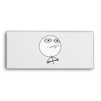 Challenge Accepted Rage Face Comic Meme Envelopes