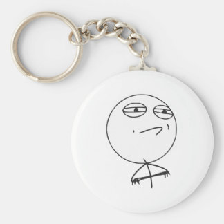 Challenge Accepted Rage Face Comic Meme Keychain