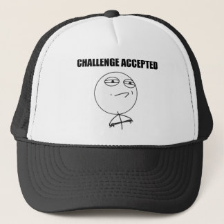 Challenge Accepted Rage Face Comic Meme Trucker Hat