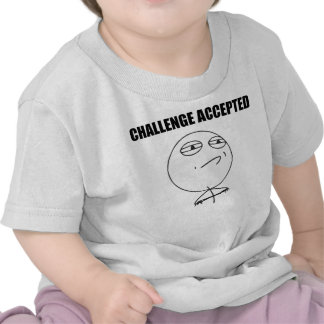 Challenge Accepted Rage Face Comic Meme Tshirts