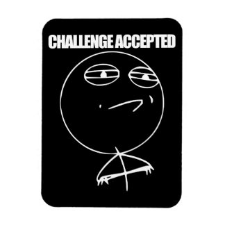 Challenge Accepted Rectangular Photo Magnet