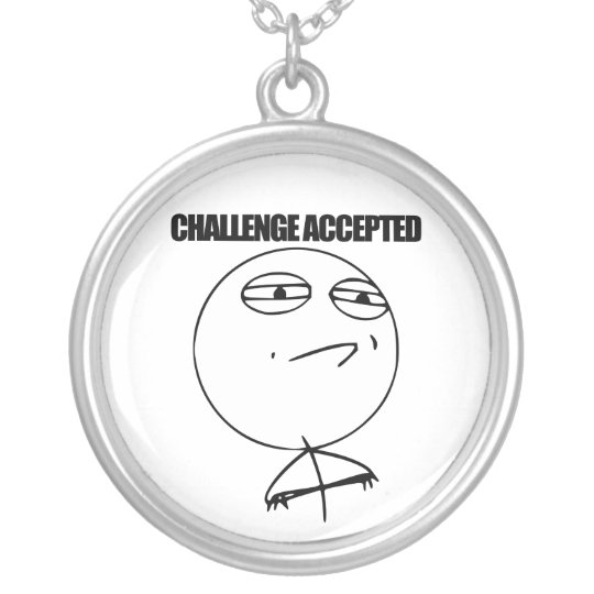 Challenge Accepted Silver Plated Necklace