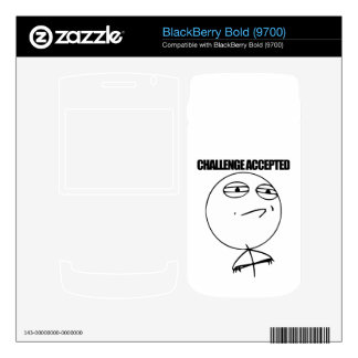 Challenge Accepted BlackBerry Decal