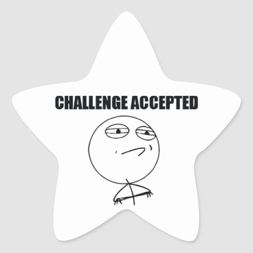 Challenge Accepted Star Stickers