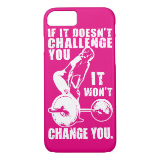 CHALLENGE and CHANGE. Women's Workout Motivational iPhone 8/7 Case