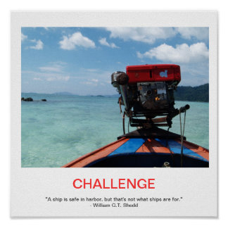 CHALLENGE demotivational poster
