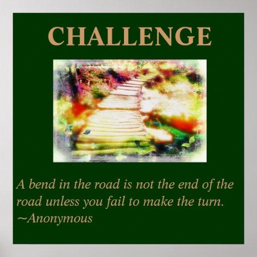 Challenge Quote Poster | Zazzle