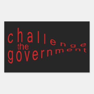 challenge the government rectangular sticker