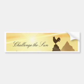 Challenge the Sun Bumper Sticker
