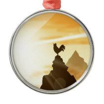 Challenge the Sun Metal Ornament