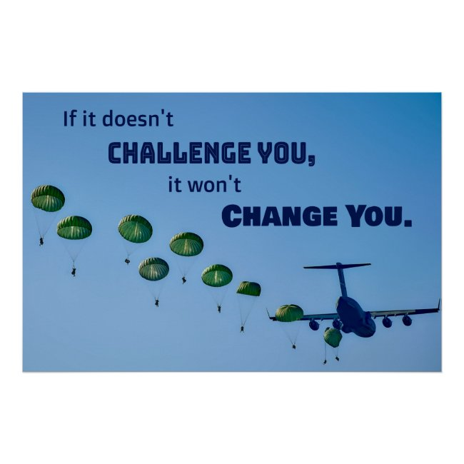 Challenge You Army Soldier Boot Camp Cadet Poster