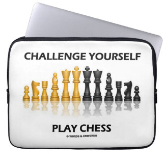 Challenge Yourself Play Chess Reflective Chess Computer Sleeve