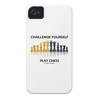 Challenge Yourself Play Chess Reflective Chess iPhone 4 Cover