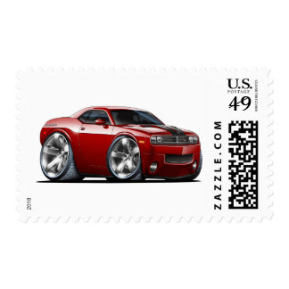 Challenger Maroon Car Postage