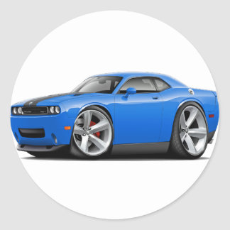 Challenger SRT8 Blue-Black Car Classic Round Sticker