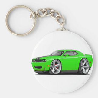 Challenger SRT8 Lime-Black Car Keychain